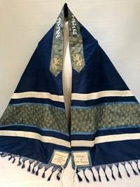 Phillip's Peacock Blue and Gold Tallit
