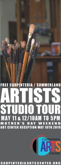 2019 Artists Studio Tour - Carpinteria Magazine ad - tall vertical