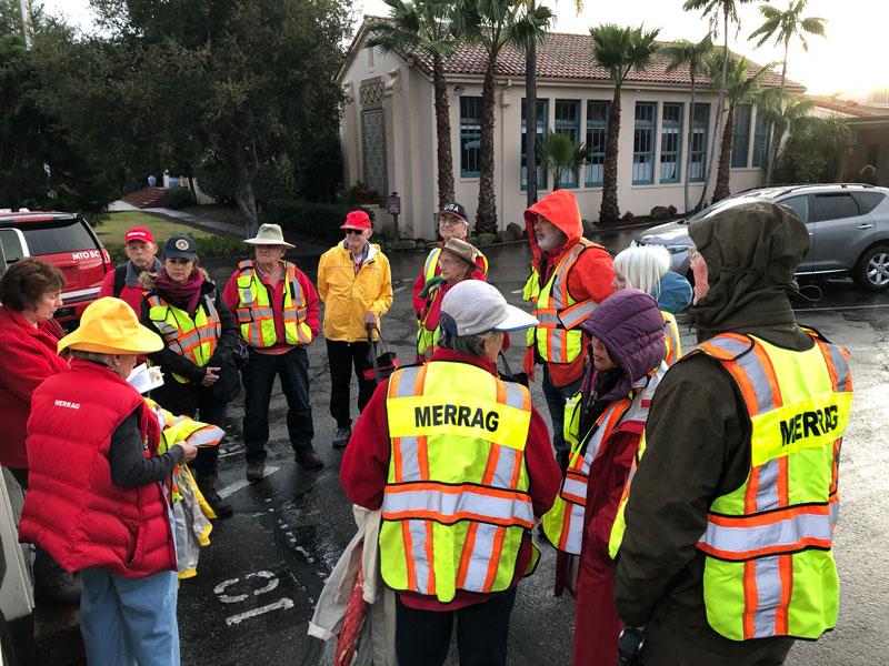 Radio Volunteers at Pre-Briefing