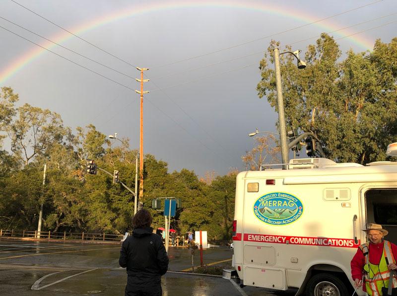 Rainbow from MERRAG Comm Van