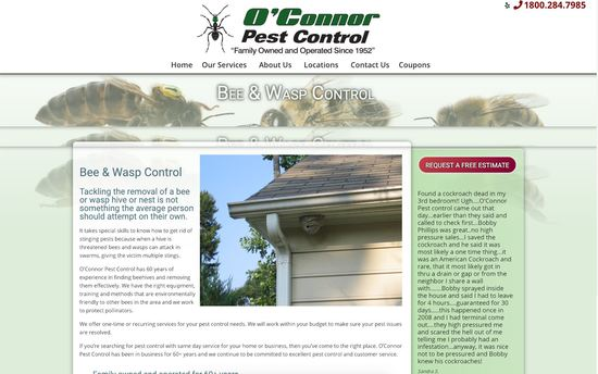 Santa Barbara Web Design O'Connor Pest Control Secondary