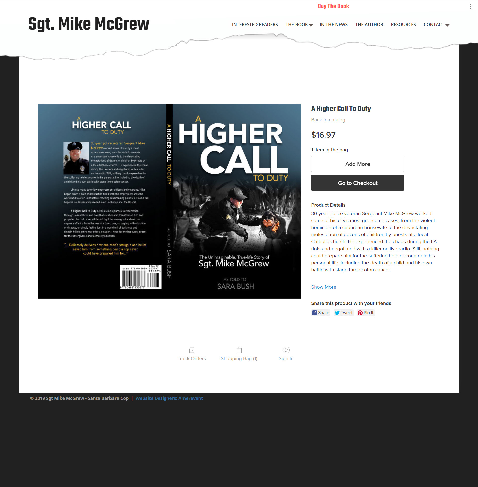 Sgt Mike McGrew A Higher Call To Duty The Book