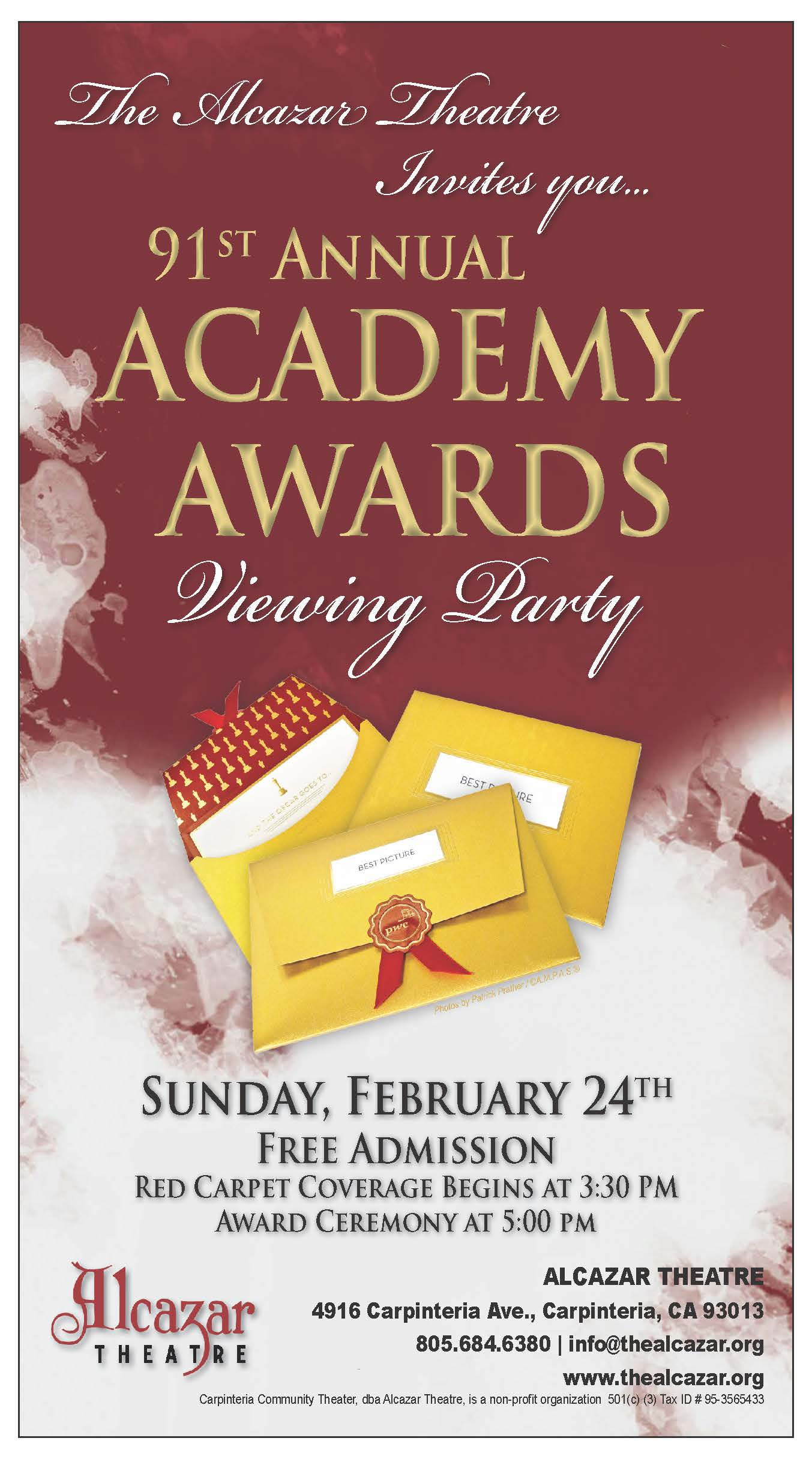 FREE EVENT: Academy Awards Viewing Party