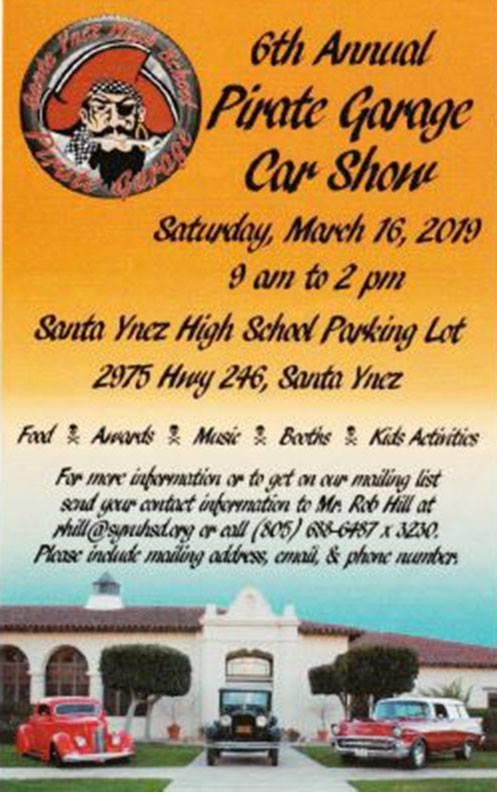 6th Annual Pirate Garage Car Show