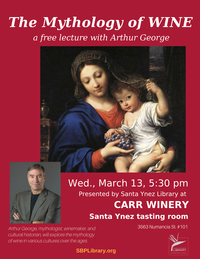 The Mythology of Wine a free lecture with Arthur George
