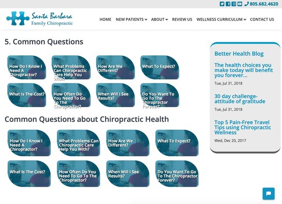 Santa Barbara Family Chiropractic Secondary