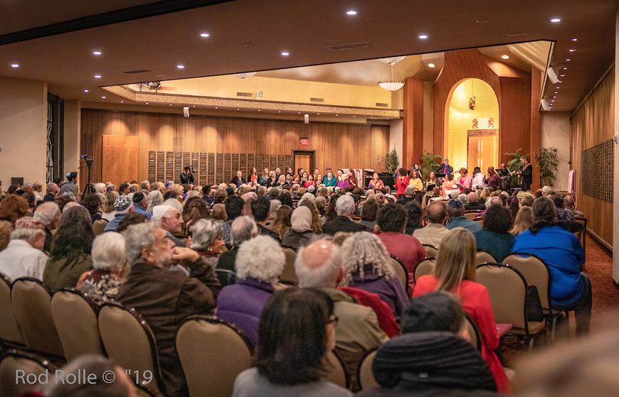 B'nai B'rith worship service audience