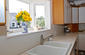 Bay window above kitchen sink