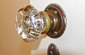Vintage glass doorknob