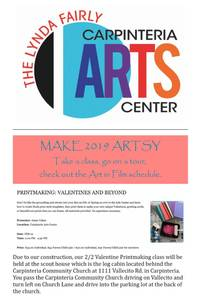 Carpinteria Arts Newsletter January 29, 2019