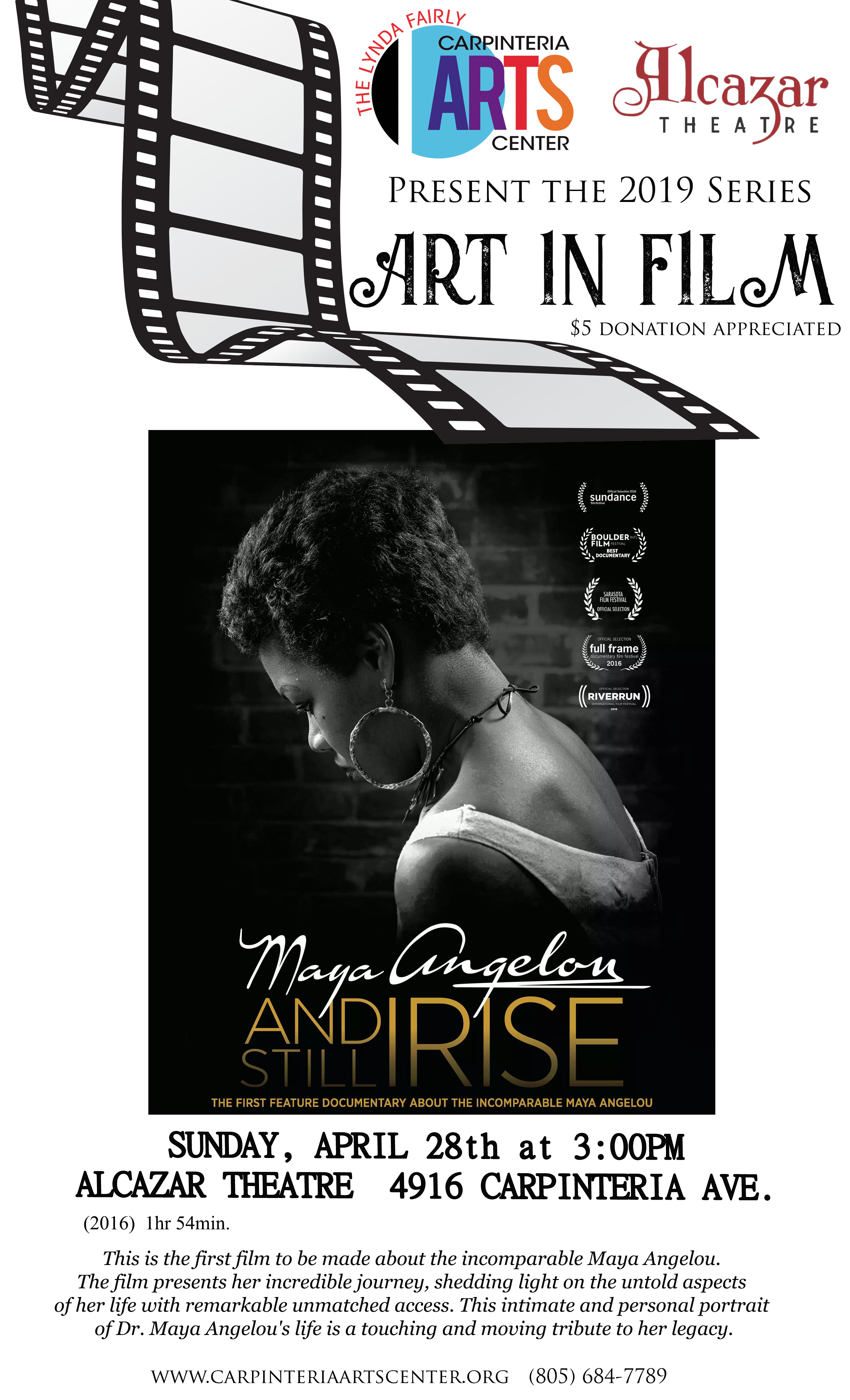 Art in Film Series: Maya Angelou: And Still I Rise