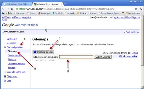 Create & Uploade Sitemap - 4a