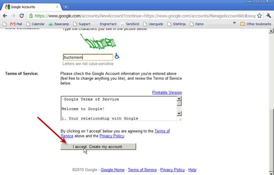 Create Google Account - 2