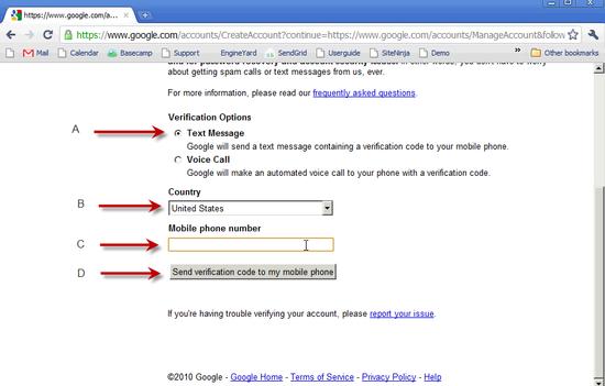 Create Google Account - 3