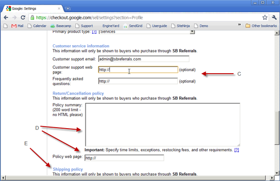 Google Checkout Profile - 4c