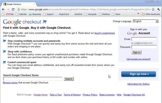 Google Checkout Bank Setup - 1