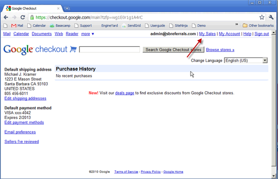 Google Checkout Bank Setup - 2