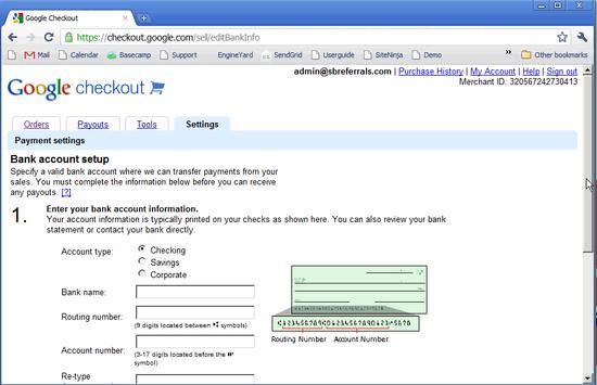 Google Checkout Bank Setup - 4