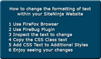 How to Change Text Formatting Using CSS Stylesheet Classes