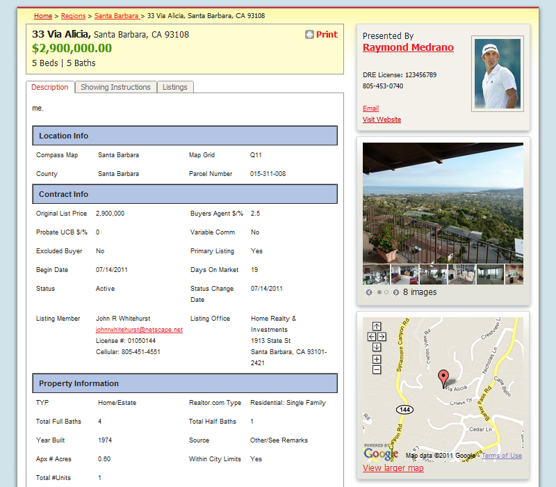 online real estate property listing and open house systemreal estate search property details