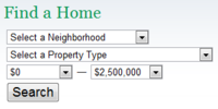 Real Estate System - Search Box