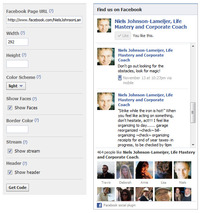 Display Facebook LIKE Social Plugin on your website