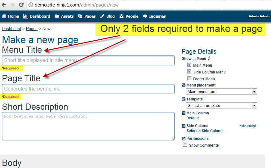 03 - Enter Required Fields