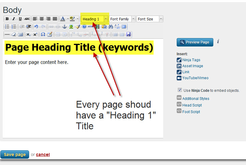 04 - Heading Titles and Page Content