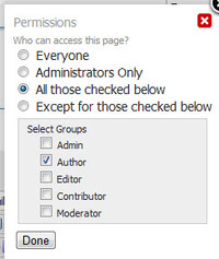 Private Pages System