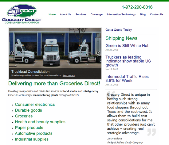 Grocery Direct Consolidated Transportation