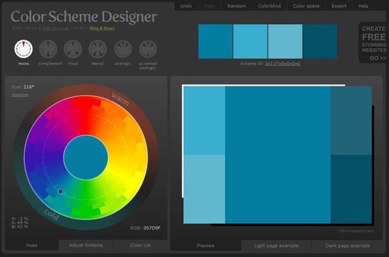Website Color Scheme Generator