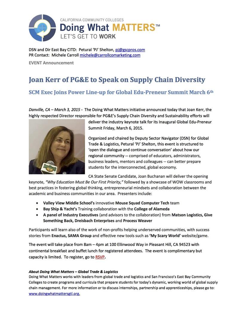 PR - Joan Kerr