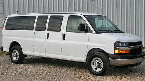 Golden Limo Passenger Van