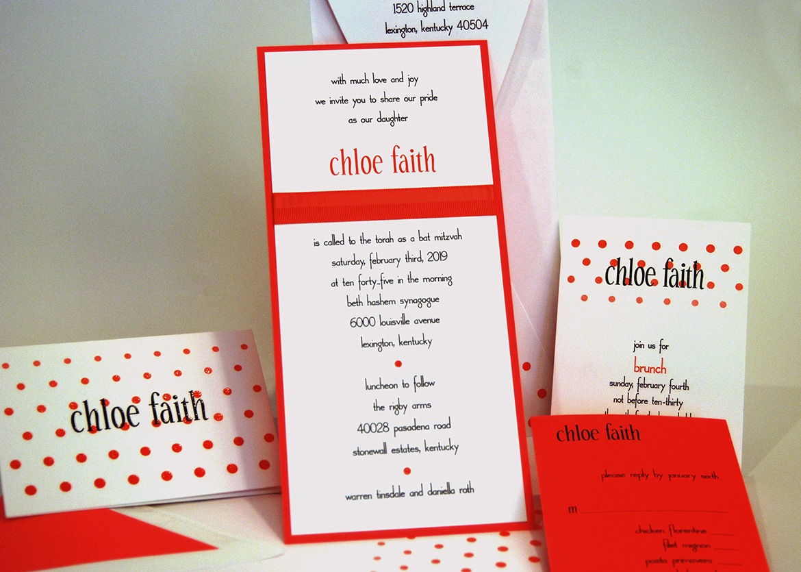Bar and Bat Mitzvahs | Invitation Basket