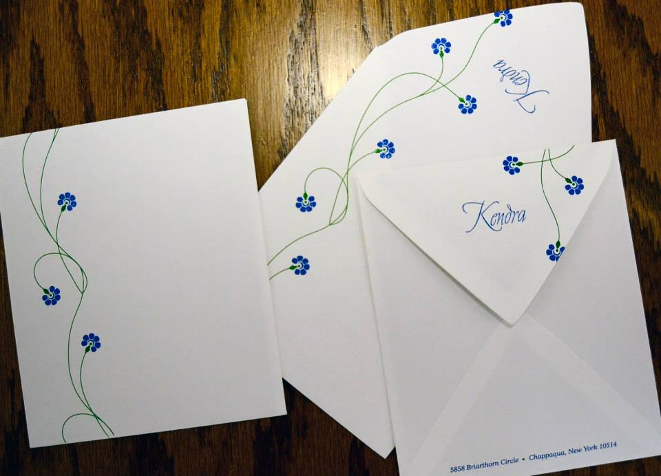 Fine printed custom made envelopes to match your invitations.
