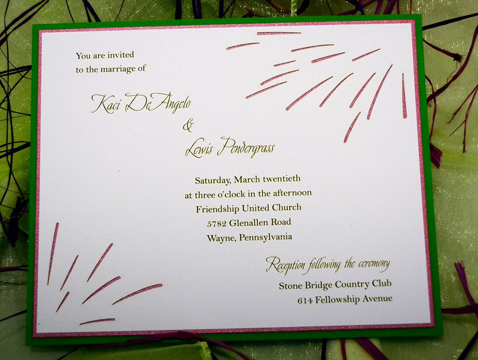 This fireworks themed wedding invitation and save the date can also be used for...