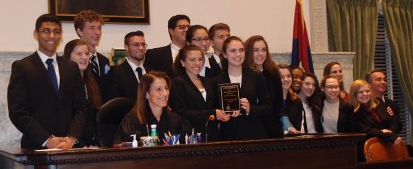 Nazareth High School team wins the 2017 Mock Trial.
