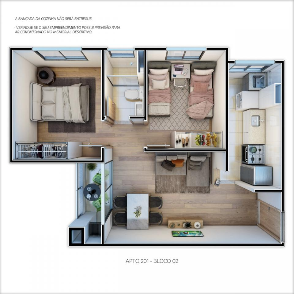 Planta | Residencial Spazio Montero