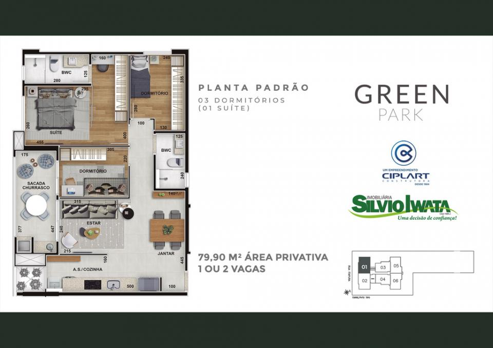 Planta   Green Park - Residence