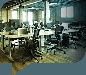 An open-plan workspace