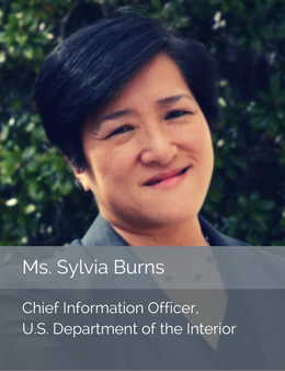 Official head shot of Ms. Sylvia Burns, Chief Information Officer of the U.S. Department of the Interior