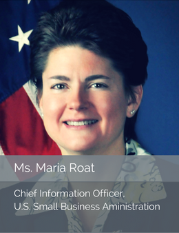 Official head shot of Ms. Maria Roat, Chief Information Officer of the U.S. Small Business Administration