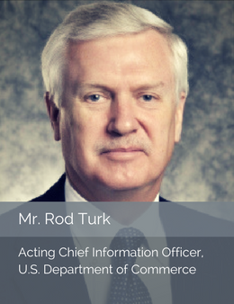 Official Head Shot of Mr. Rod Turk, Acting Chief Information Officer of the U.S. Department of Commerce