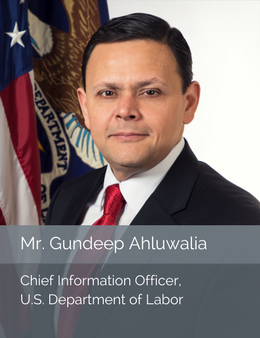 Official head shot of Mr. Gundeep Ahluwalia, Chief Information Officer of the U.S. Department of Labor