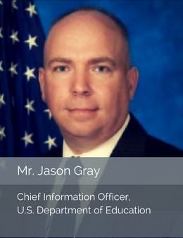 Official head shot of Mr. Jason Gray, Chief Information Officer of the U.S. Department of Education