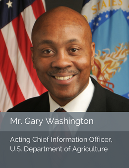 Official head shot of Mr. Gary Washington, Acting Chief Information Officer of the U.S. Department of Agriculture