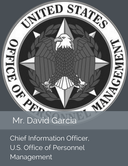 Seal of the U.S. Office of Personnel Management in place of the official head shot of Mr. David Garcia, Chief Information Officer of the U.S. Office of Personnel Management