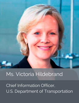 Official head shot of Ms. Victoria Hildebrand, Chief Information Officer of the U.S. Department of Tansportation