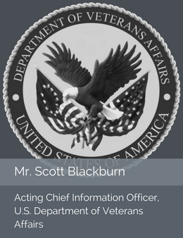 Seal of the U.S. Department of Veterans Affairs in place of the official head shot of Mr. Scott Blackburn, Chief Information Officer of the U.S. Department of Veterans Affairs
