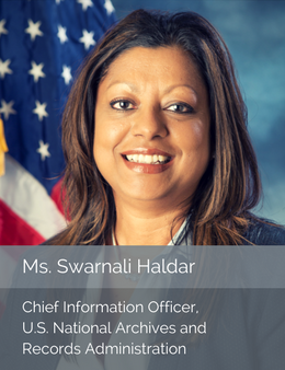 Official head shot of Swarnali Haldar, Chief Information Officer of the U.S. National Archives and Records Administration